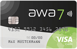 awa7 awa7® Visa Kreditkarte